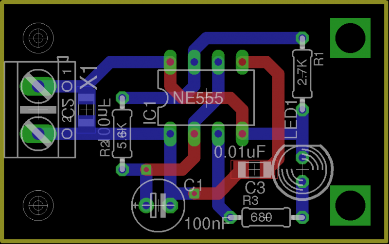 Adding mounting holes to a PCB with EAGLE PCB software · Lulu\'s blog