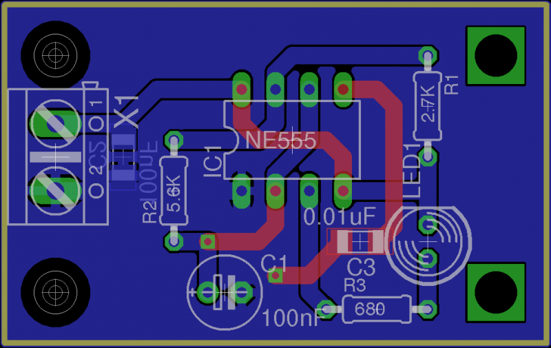 Adding mounting holes to a PCB with EAGLE PCB software