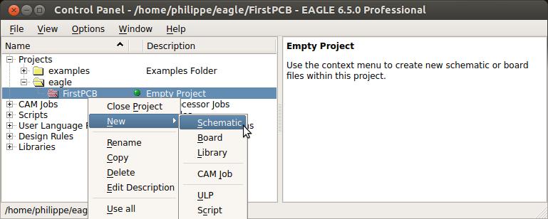 EAGLE Tutorial - Part 1 - Control panel · Lulu\'s blog