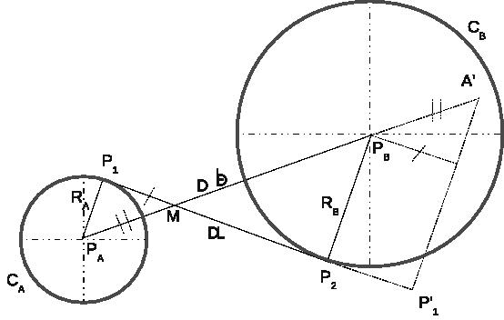 Tangent line segments to circles · Lulu's blog