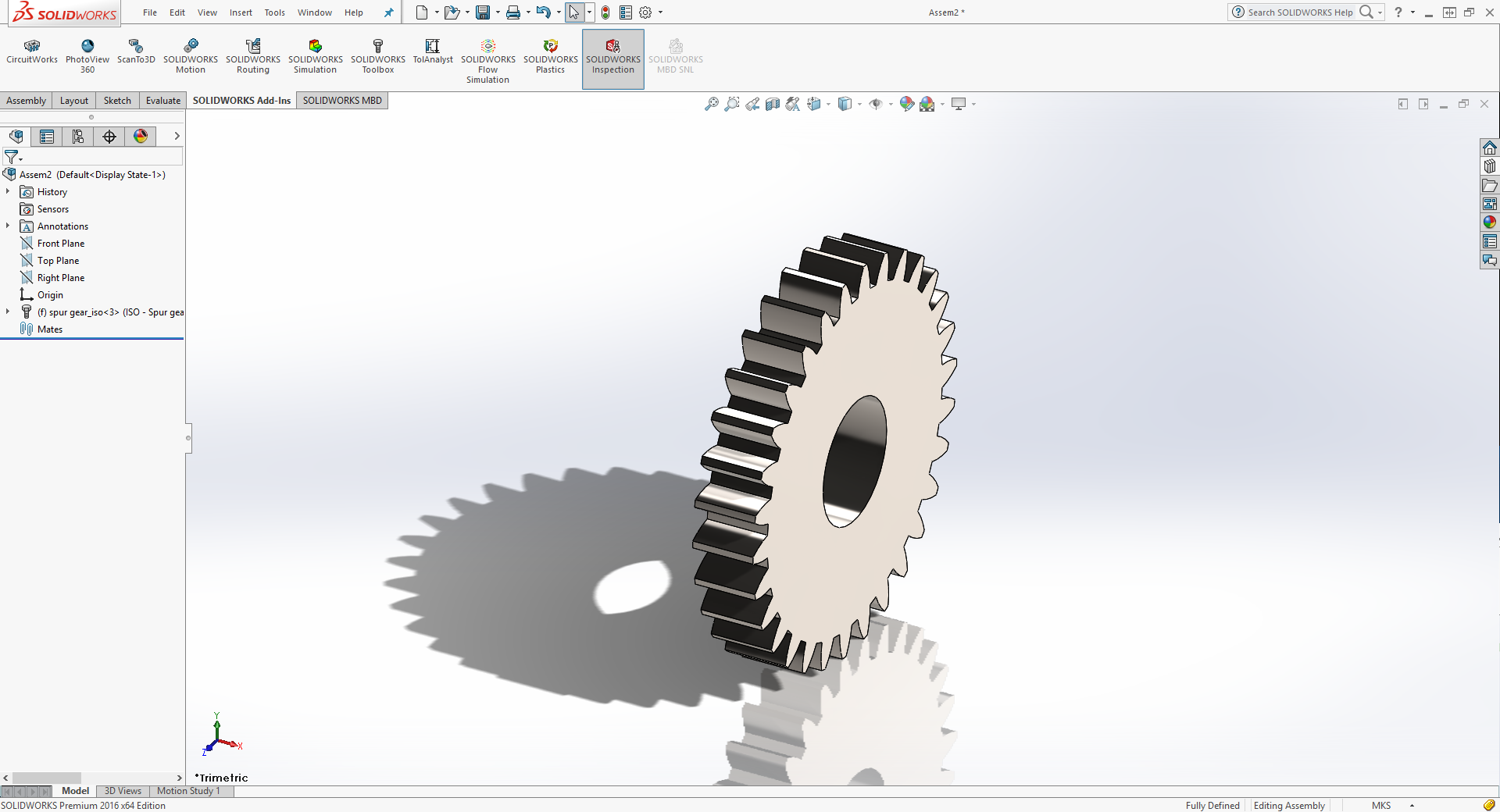 How to insert gears in a Solidwoks assembly · Lulu's blog