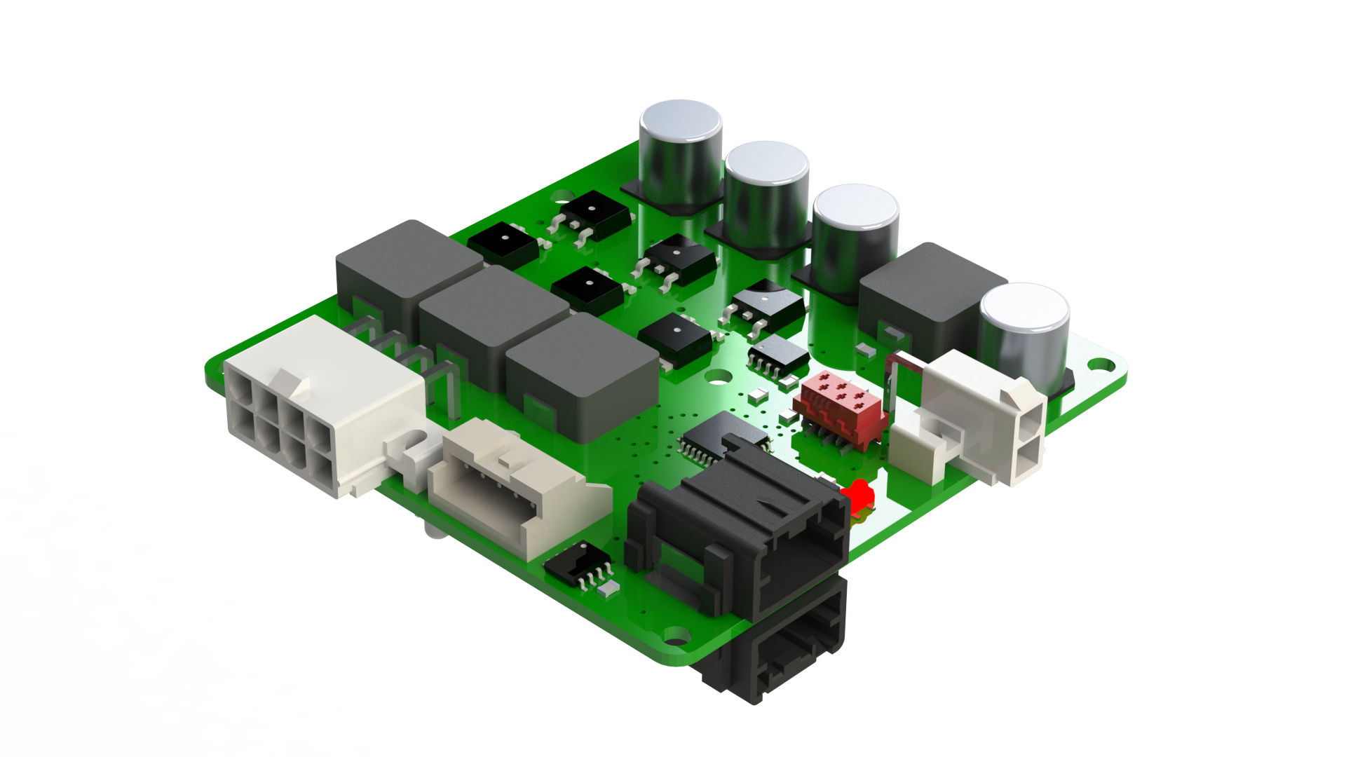Can Bus Motor Controller For Dc Or Bldc Motors Lulus Blog Brushless Circuit Electronic 3d View Of The Board