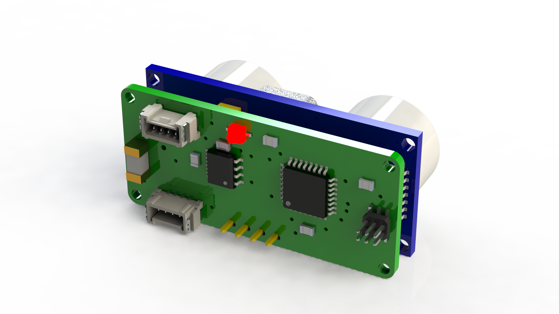 Can Bus Ultrasonic Distance Sensor Lulus Blog Circuit 3d Back View Of The